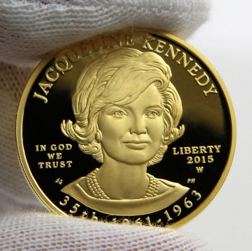 2015-W $10 Proof Jacqueline Kennedy First Spouse Gold Coin, Obverse
