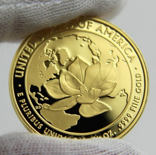2015-W $10 Proof Jacqueline Kennedy First Spouse Gold Coin, Reverse