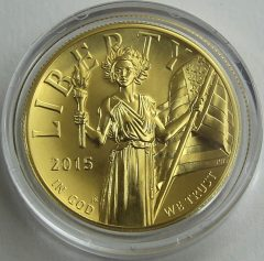2015-W $100 American Liberty High Relief Gold Coin, obverse