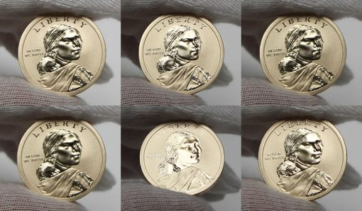 2015-W Enhanced Uncirculated Native American $1 Coin, Obverses