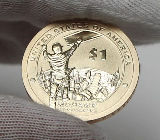 2015-W Enhanced Uncirculated Native American $1 Coin, Reverse-a