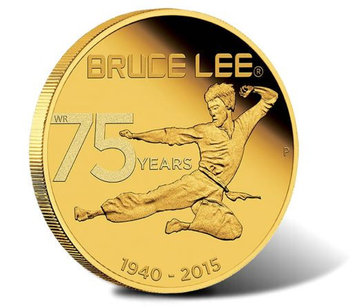 75th Anniversary of Bruce Lee 2015 1/4oz Gold Proof Coin