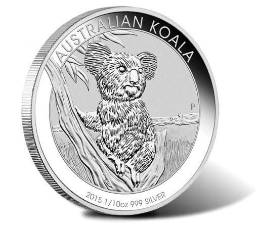 Australian Koala 2015 1/10oz Silver Coin