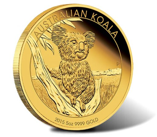 Australian Koala 2015 5oz Gold Proof Coin