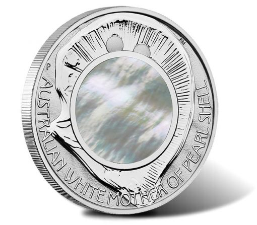 Australian White Mother of Pearl Shell 2015 1oz Silver Proof Coin
