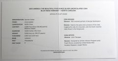 Blue Ridge Parkway 5 oz Silver Uncirculated Coin Specifications