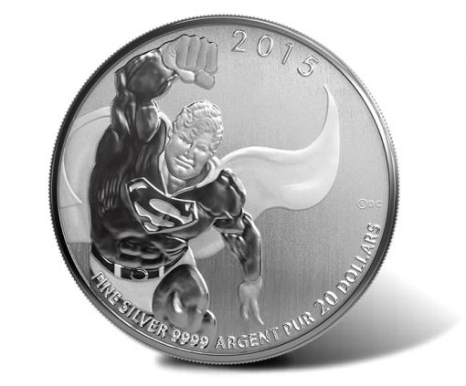 Canadian 2015 $20 Superman Silver Coin