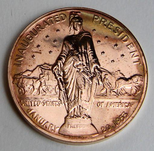 Dwight D Eisenhower Presidential Bronze Medal, Reverse