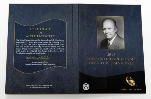 Dwight D. Eisenhower Coin and Chronicles Set Cert