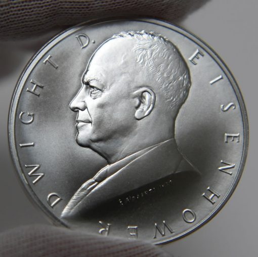 Dwight D. Eisenhower Presidential Silver Medal, Obverse