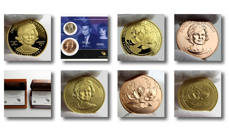2015 John /& Jacqueline Kennedy First Spouse Presidential Coin /& Medal Set