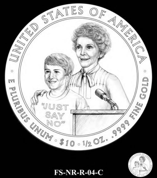 Nancy Reagan FS Gold Coin Candidate Design FS-NR-R-04-C