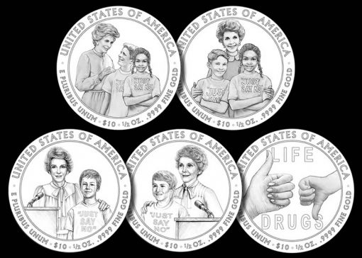 Nancy Reagan FS Gold Coin Candidate Designs