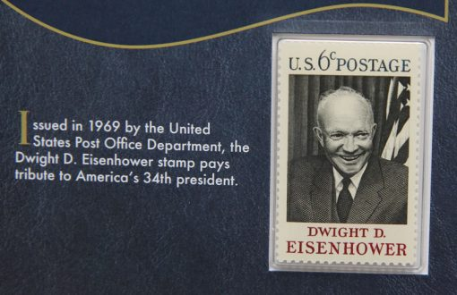 Photo of the Dwight D. Eisenhower 1969 6c postage stamp