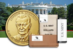 Rolls, Bags and Boxes of Lyndon B. Johnson Presidential $1 Coins