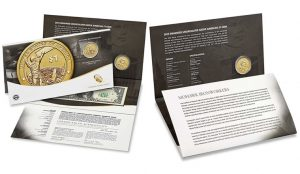 US Mint images of the 2015 American $1 Coin and Currency Set