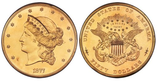1877 $50 Fifty Dollar