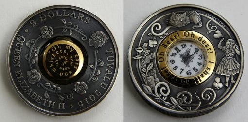 2015 $2 Alice in Wonderland Clock Coin