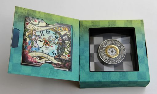 2015 $2 Alice in Wonderland Clock Coin in Shipper