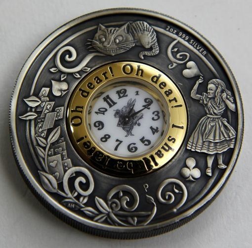 2015 Alice in Wonderland Clock Coin, Reverse