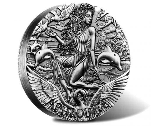2015 Aphrodite High Relief 2oz Silver Coin