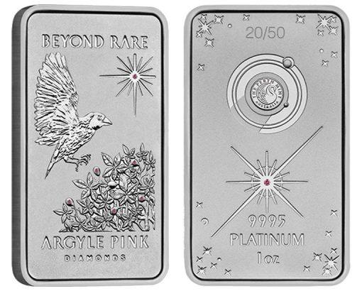 2015 Argyle Pink Diamond 1oz Platinum Ingo