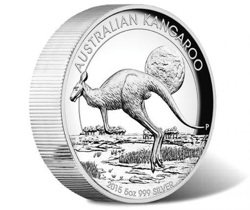 2015 Australian Kangaroo 5oz Silver Proof High Relief Coin