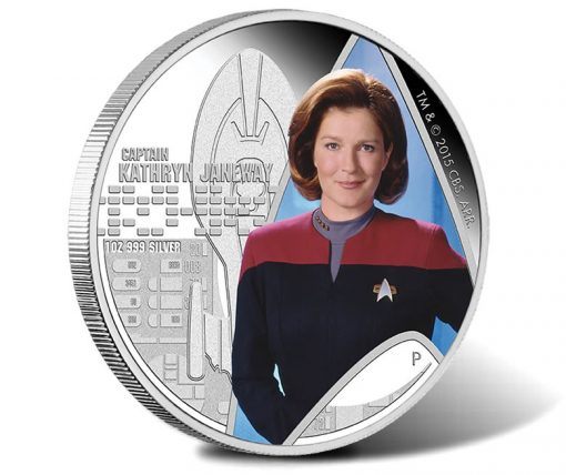 2015 Captain Kathryn Janeway Silver Coin