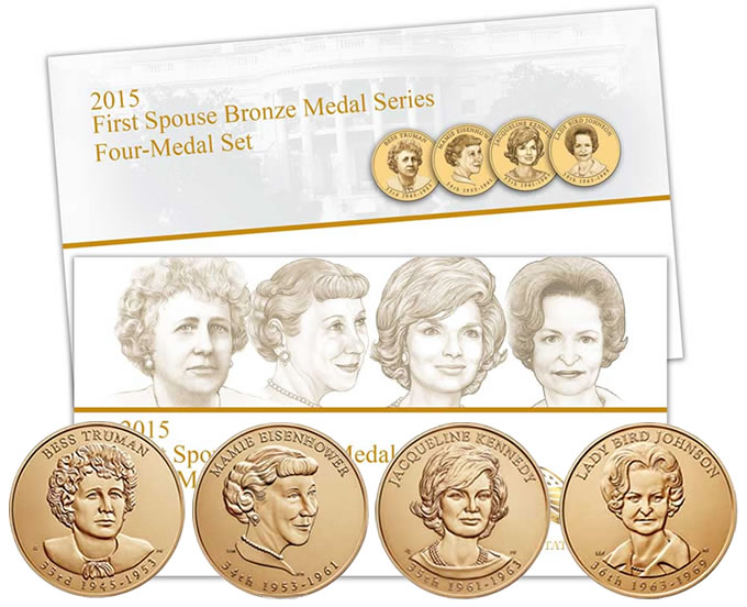 2015 First Spouse Bronze Four-Medal Set
