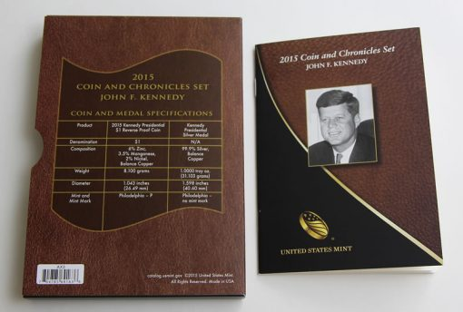 2015 John F. Kennedy Coin and Chronicles Set Specifications and Booklet