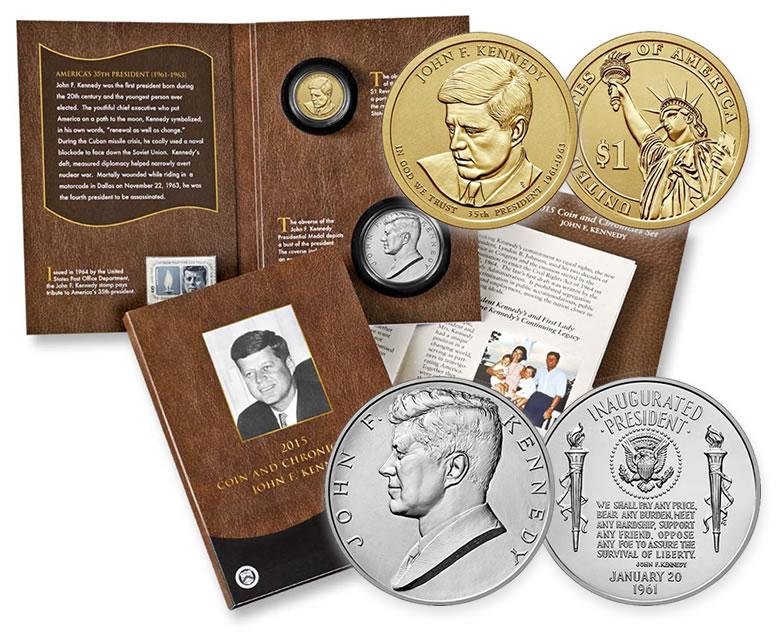 2015 US President John F Kennedy D Dollar Coin in BU Condition