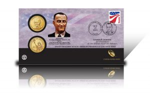 2015 Lyndon B. Johnson $1 Coin Cover