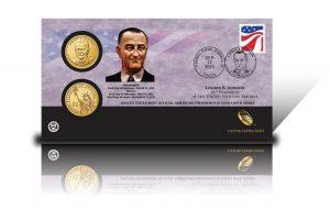 2015 Lyndon B. Johnson $1 Coin Cover