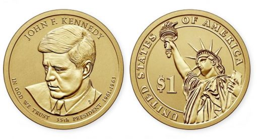 2015-P Reverse Proof John F. Kennedy Presidential $1 Coin