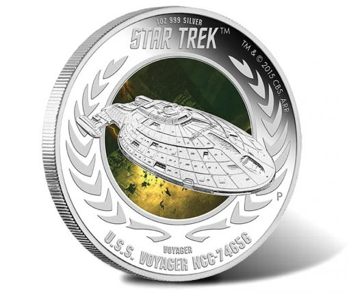 2015 USS Voyager Silver Coin