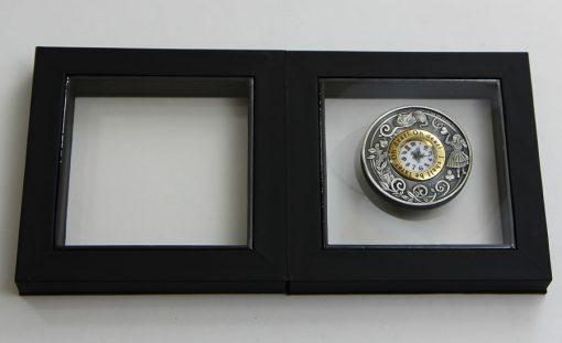 Alice in Wonderland Clock Coin in Presentation Case Opened