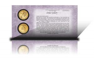 Back of 2015 Lyndon B. Johnson $1 Coin Cover
