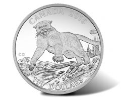 Canadian 2016 $100 Cougar Silver Coin for $100