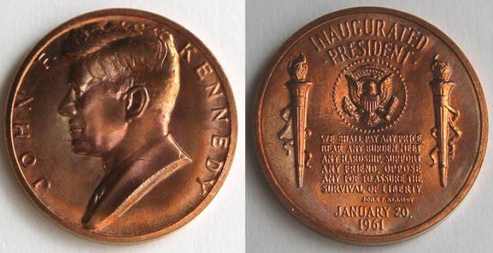 John F. Kennedy Bronze Inaugural Medal