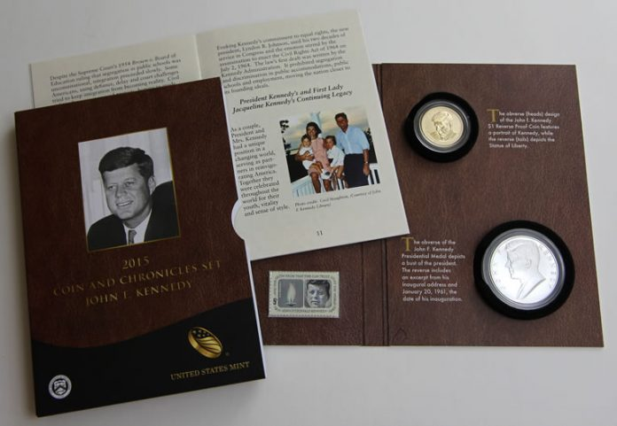 John F. Kennedy Coin and Chronicles Set