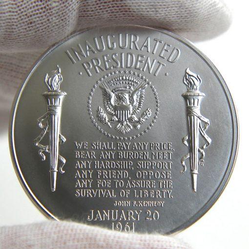 John F. Kennedy Presidential Silver Medal, Reverse