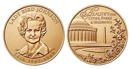 Lady Bird Johnson Bronze Medal