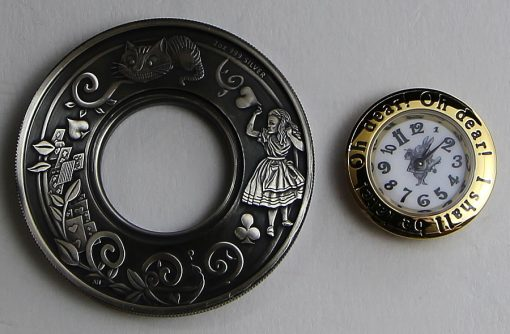 Parts of the Alice in Wonderland Clock Coin