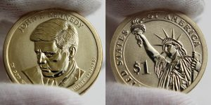 Photo of 2015-P Reverse Proof John F. Kennedy Presidential $1 Coin