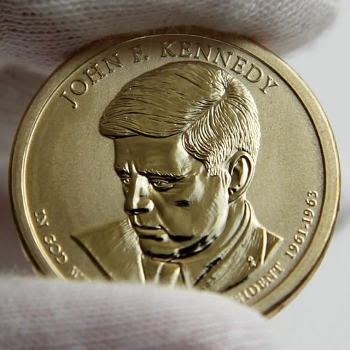 Photo of 2015-P Reverse Proof John F. Kennedy Presidential $1 Coin, Obverse