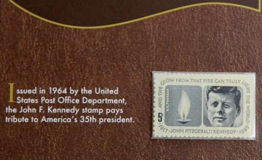 Photo of John F. Kennedy 1964 5-Cent Postage Stamp