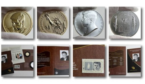 Photos of a 2015 Kennedy Coin and Chronicles Set