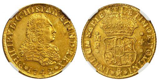 1742-MF Mexico 4 Escudos