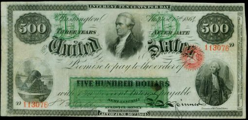 1864 $500 Interest-Bearing Note