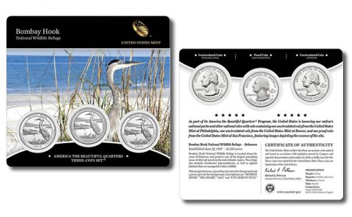 2015 Bombay Hook Quarters Three-Coin Set
